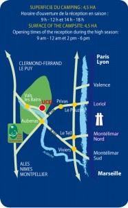 Plan d'accès au Domaine de Gil - Ucel