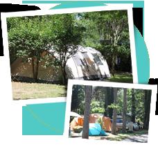 Location emplacements ombragés tente caravane camping car 4 étoiles Ardèche piscine chauffée et bord de rivière à Aubenas Vals les Bains